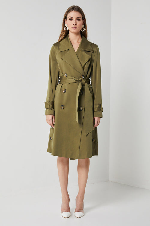 DECADES DE-TACHABLE SLEEVE TRENCH