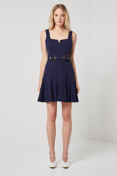 MAYA DRESS WITH DETACHABLE BELT