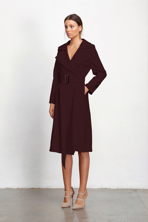 ROSALINE TRENCH WITH DETACHABLE SLEEVES