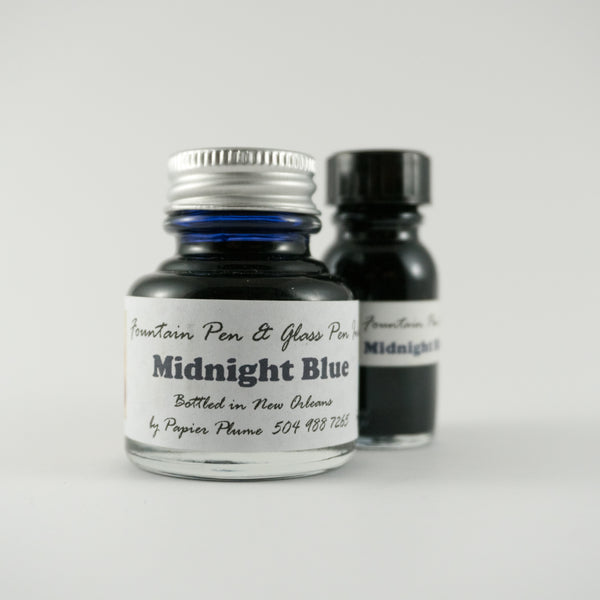 Papier Plume - Fountain Pen Ink - Midnight Blue