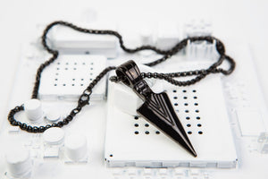 Black Tribal Sibat Pendant + Chain