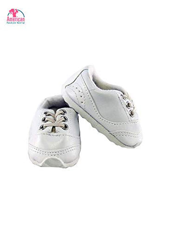 "Cute 18"" White Sneakers- fits 18 Inch American Girl Dolls, Gotz, Our Generation Madame Alexander and Others"