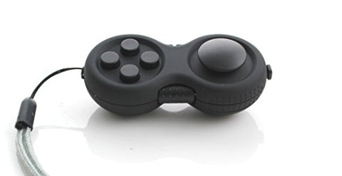 WeFidget Fidget Pad - 9 Fidget Features, Perfect For Skin Pickers, ADD, ADHD, Anxiety and Stress Relief, Black Edition