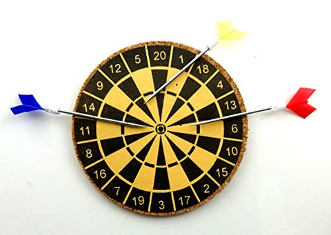 Dollhouse Miniature Dart Board Set