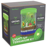 Light-up Terrarium Kit for Kids with LED Light on Lid - Create Your Own Customized Mini Garden in a Jar That Glows at Night - Great Science Kits - Gardening Gifts for Children - Kids Toys - Dan&Darci - ShopGlobal24x7