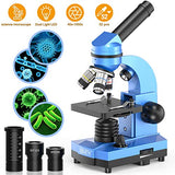 Science Microscope for Kids Beginners Children Teens Students,40X-1000X Lab Compound Monocular Microscopes with Optical Glass Lenses & 52 pcs Educational Science Kits - ShopGlobal24x7