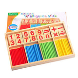 Alytimes Counting Stick Calculation Math Educational Toy, Wooden Number Cards and Counting Rods Box - ShopGlobal24x7