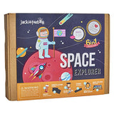 Space Themed Science Art Craft Toy for Boys and Girls | 6 Activities-in-1 Kit | Best Gift for kids Aged 6,7,8,9,10 years old | Includes beautiful DIY Solar System mobile kit, Rocket, and Boardgame - ShopGlobal24x7