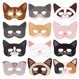 Cat Masks Kitten Masks Halloween Masks for Cat Party Kitty Party Kids Costumes Photo Prop Dress Up12 Pcs