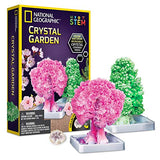 NATIONAL GEOGRAPHIC Crystal Growing Garden - Grow Two Crystal Trees in Just 6 Hours with This Crystal Growing Kit for Kids, Includes Geode, Learning Guide, and More, Great Gift for Boys and Girls