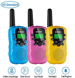 BATURU Walkie Talkies for Kids 3 Pack, 22 Channel Long Range Up to 3 Miles Kids Walkie-talkies for Age 3-12 Year Old Boys Girls Two Way Radio Toy