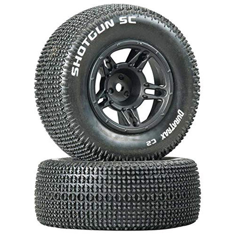 Duratrax 1/10 Shotgun SC Tire C2 Mounted Front Tires: Slash (2, DTXC3686