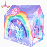 Kids Play Tent Unicorn Playhouse for Children Indoor and Outdoor Fun,Roomy Enough for 2-3 Little Kids Play Together