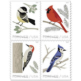 USPS Forever Stamp Sheets Featuring Birds (1 Sheet, Birds in Winter) - ShopGlobal24x7
