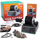 Advanced Professional Rock Tumbler Kit - with Digital 9-day Polishing timer & 3 speed settings - Turn Rough Rocks into Beautiful Gems : Great Science & STEM Gift for Kids all ages : Geology Toy - ShopGlobal24x7