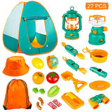 KAQINU 27 PCS Kids Camping Set, Pop Up Play Tent with Kids Camping Gear Toys, Indoor and Outdoor Camping Tools Pretend Play Set for Toddler Boys & Girls - ShopGlobal24x7