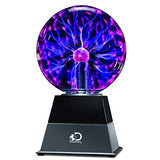 "Discovery Kids 6"" Plasma Globe Lamp with Interactive Electronic Touch and Sound Sensitive Lightning and Tesla Coil, Includes AC Adapter, Glass STEM Lava Lamp-Style Light for Desk, Kids Room, and More"