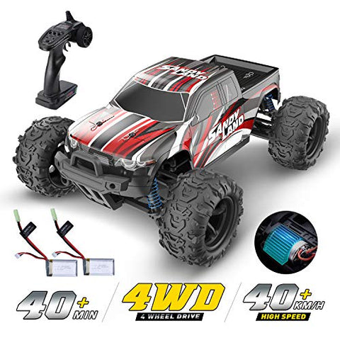 DEERC RC Car High Speed Remote Control Car for Kids Adults 1:18 Scale 30+ MPH 4WD Off Road Monster Trucks,2.4GHz All Terrain Toy Trucks with 2 Rechargeable Battery,40+ Min Play Gifts for Boys - ShopGlobal24x7