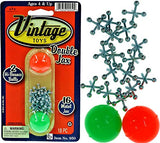 Vintage Metal Jacks Game Set Retro Toys (Pack of 1 Unist) Jax Game & 2 Balls Classic Games Great Party Favors or Pinata Filler Toy in Bulk. Plus 1 Collectable Bouncy Ball. 950-1B