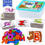 CozyBomB Alphabet Toddler Flash Cards - ABC Wooden Letters Jigsaw Numbers Alphabets Puzzles Flashcards for Age 2 3 4 Years Old - Preschool Learning Educational Montessori Toys Gift for Kids Baby - ShopGlobal24x7