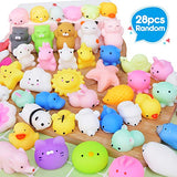 UMIKU 28PCS Mochi Squishy Toys Party Favors for Kids Mini Squishy Kawaii Animal Squishies Squeeze Toy Cat Squishy Stress Relief Toys for Adults Goodie Bag Filler Birthday Favors for Kids Random - ShopGlobal24x7