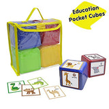 Godery DIY Education Playing Game Dice, Pocket Cubes for Teaching - Set of 4