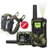 Aikmi Kids Walkie Talkies Set - Walkie Talkies for Kids 2 Way Radio Boy Birthday Gift for 4-8 Year Old Boys and Girls Fit Games, Adventure and Camping. Strap and Paracord Bracelet Included. (Camo)