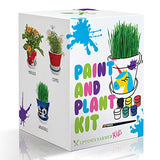 Paint & Plant Flower Growing Kit for Kids to Grow Flowers w Seeds, Soil, Pots, Paints - Great Gardening Science Gifts for Girls & Boys Ages 6 7 8 9 10 - Kits to Experiment w Garden Crafts