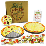 Pint-Size Scholars Sight Words Pizza Board Game | 120 Vocabulary Words for Reading & Spelling Readiness (Dolch & Fry) | Educational Learning Board Games for Kids | Teaching Tool for Parents & Teachers