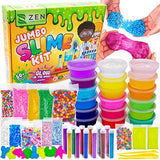 DIY Slime Kit for Girls Boys - Ultimate Glow in the Dark Glitter Slime Making Kit Arts Crafts - Slime Kits Supplies include Big Foam Beads Balls, 18 Mystery Box Containers filled Crystal Powder Slime - ShopGlobal24x7