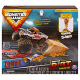 Monster Jam, Zombie Monster Dirt Starter Set, Featuring 8oz of Monster Dirt & Official 1: 64 Scale Die-Cast Truck