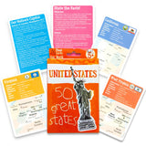 United States Flash Cards for Kids -- Pack of 36 States and Capitals Flashcards