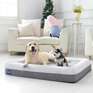 Laifug Orthopedic Memory Foam Large Dog Bed Dog Couch with Durable Water Proof Liner and Removable Washable Cover