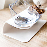 LaiFug Elevated Double Cat Bowl,Pet Feeding Bowl | Raised The Bottom for Cats and Small Dogs