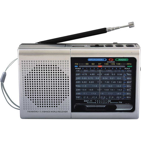 Supersonic 9 Band Bluetooth Radio w/ AM/FM and SW1-7