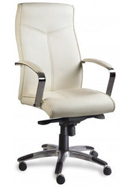 Xtech Manager Chair White/Chrome W/Arms
