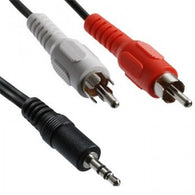 iMexx 3.5 mm Male to RCA Male Stereo Cable