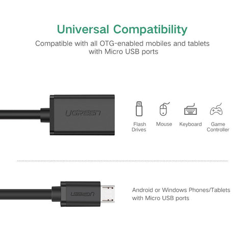UGREEN Micro USB 2.0 OTG Cable (Micro USB Male to USB Female)
