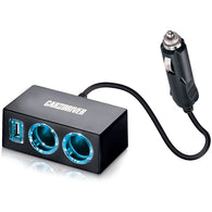 Car and Driver USB & Dual Socket LED Car Charger