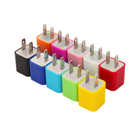 @One Cube USB Wall Charges Assorted Colours