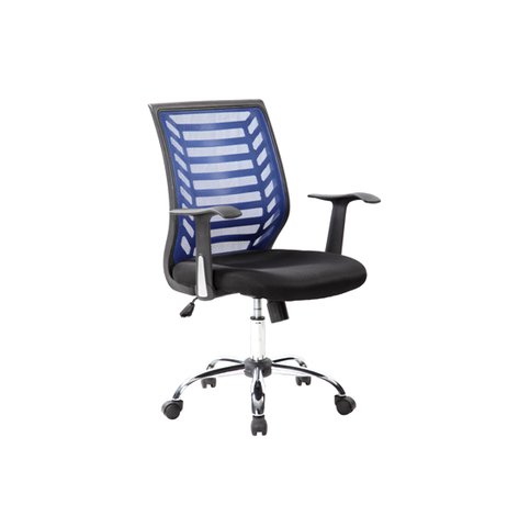 Sit M180B Manager Chair, Mesh Fabric - Black & Blue