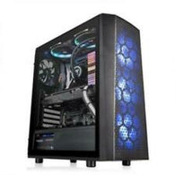 Thermaltake CA-1L7-00M1WN-02 Versa J24 Tempered Glass RGB Edition Computer Case Chassis w/ 3x RGB Fans