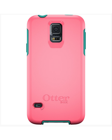 Otterbox Symmetry for Galaxy S5 Case-Teal Roser- Blaze Pink