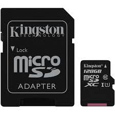 Kingston Canvas Select 128GB microSDXC Class 10 Memory Card