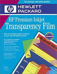 "HP Premium Transparency Film - 8.5"" x 11"" - 50pk"