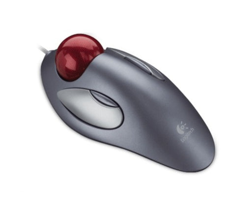 Logitech Trackman Marble USB Mouse - Dark Silver