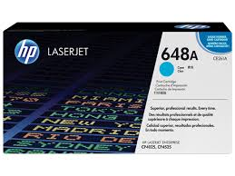 HP 648A Cyan Original LaserJet Toner Cartridge (CE261A)