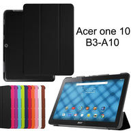 Acer Iconia One 10 B3-A10 Slim Shell 3-folding PU Leather Standing Cover Case 10.1""