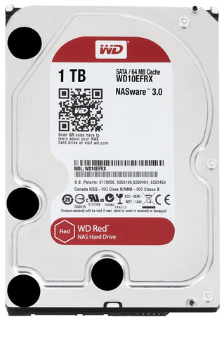 Western Digital Red 1TB NAS Hard Disk Drive - 5400 RPM - 6 Gb/s 64MB Cache