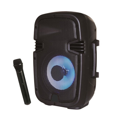 "MYO Two Way Active Black Loudspeaker 8"" Sub/BT/SD Card/MP3/FM Radio"